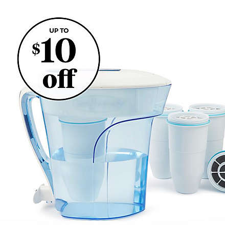 ZeroWater®: $5 off 12-Cup Pitcher + $10 off 4pk Replacement Filters. Shop Now