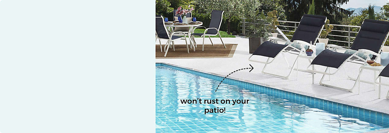 Meet The Never Rust Patio Collection