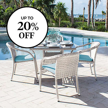 Up to 20% off Select Outdoor Furniture • Umbrellas • Lighting • Dining • Rugs • Pillows & Cushions. Shop Now