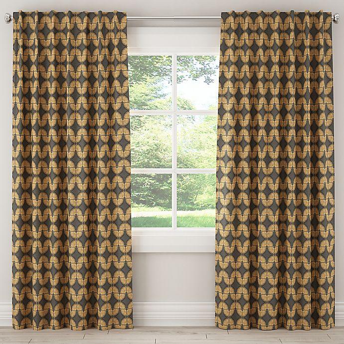 Alternate image 1 for Skyline Urban Caterpillar 84-Inch Rod Pocket Window Curtain Panel in Grey