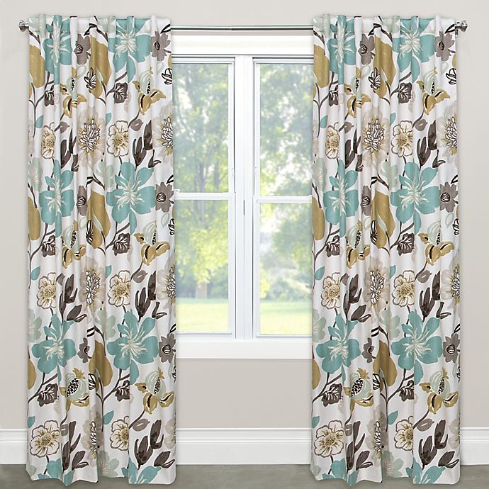 Alternate image 1 for Skyline Furniture Gorgeous 63-Inch Rod Pocket/Back Tab Window Curtain Panel in Blue