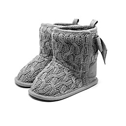 Stepping Stones Sweater Knit Boots in Grey
