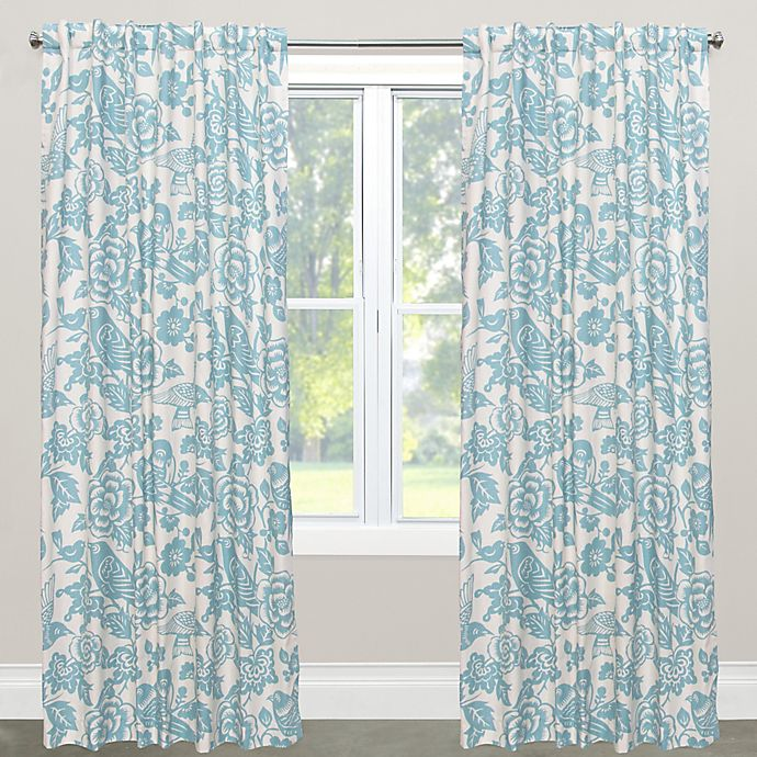 Alternate image 1 for Skyline Furniture Canary 63-Inch Rod Pocket/Back Tab Window Curtain Panel in Blue