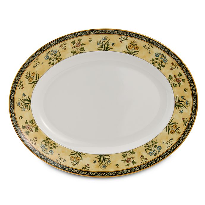 Alternate image 1 for Wedgwood® India 13.75-Inch Oval Platter