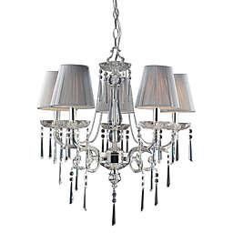ELK Lighting 5-Light Chandelier in Polished Silver