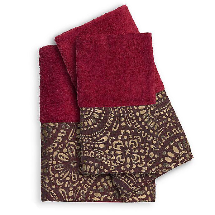 Alternate image 1 for Popular Bath Cascade 3-Piece Bath Towel Set in Burgundy