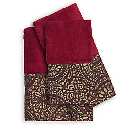 Popular Bath Cascade 3-Piece Bath Towel Set in Burgundy