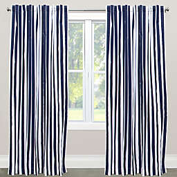 Skyline Furniture Canopy Stripe Rod Pocket/Back Tab Window Curtain Panel