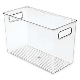 InterDesign® Tall Clear Bath Bin