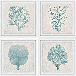 Marmont Hill Coral Group Framed Quadriptych Wall Art