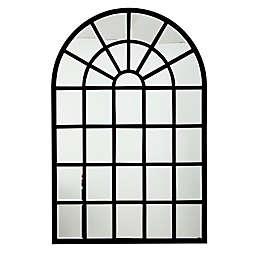 Harlem 31.5-Inch x 47-Inch Metal Wall Mirror in Black