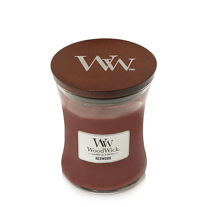 Alternate image 1 for WoodWick® Redwood 10-Ounce Jar Candle