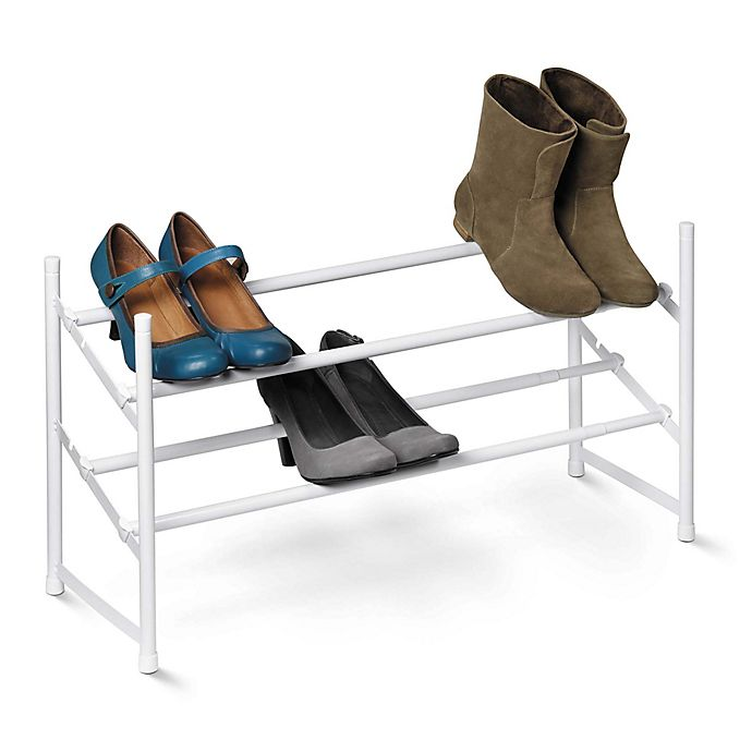 Alternate image 1 for Honey-Can-Do® 2-Tier Expandable Shoe Rack