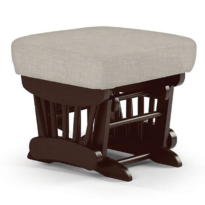Alternate image 1 for Best Chairs Custom Charleston Wood Gliding Ottoman in Grey