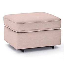 Best Chairs Custom 0026 Gliding Ottoman in Pink