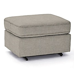 Best Chairs Custom 0026 Gliding Ottoman in Grey