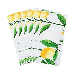 Lemon Bliss Napkins in Yellow/White (Set of 6)