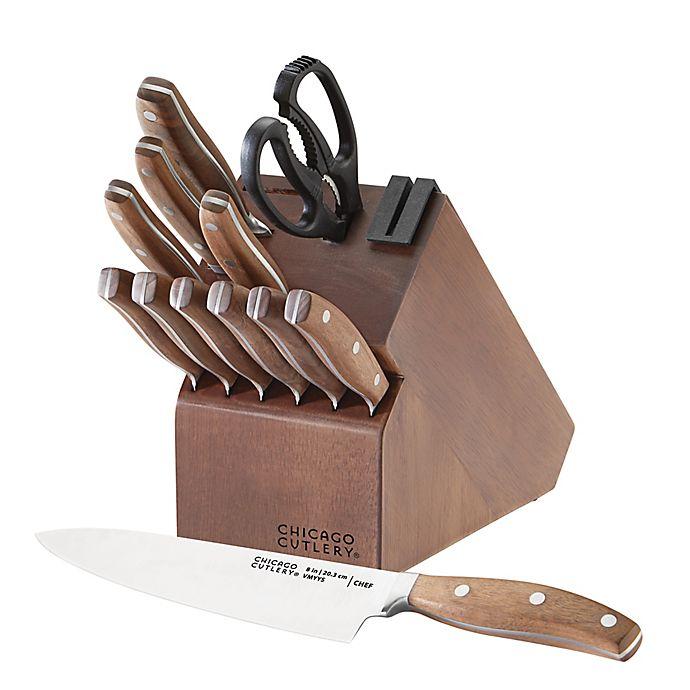 Alternate image 1 for Chicago Cutlery® Signature Steel 13-Piece Knife Block Set in Walnut