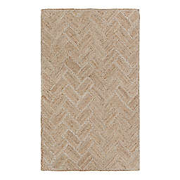 Couristan Nature's Elements Garden Path Area Rug in Natural-Ivory