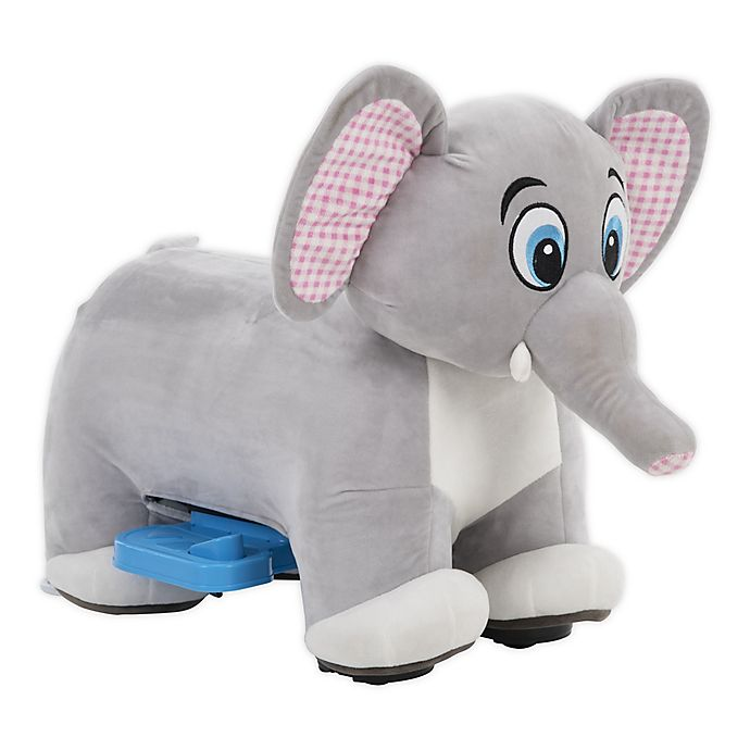 Alternate image 1 for Huffy 6-Volt Elephant Plush Toy Ride-On