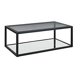 Modus Furniture Ellis Mirrored Shelf Coffee Table in Nutmeg
