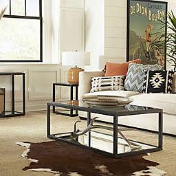 Modus Furniture Ellis Mirrored Shelf Table Collection