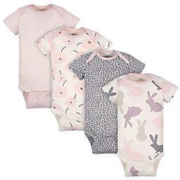 Gerber® Onesies® Size 0-3M 4-Pack Bunny Bodysuits