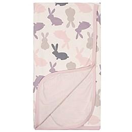 Gerber® Bunny Reversible Baby Blanket in Pink