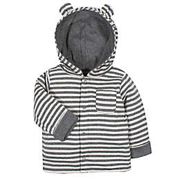 Gerber® Striped Reversible Hooded Cardigan in Grey