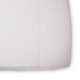 pehr Stripes Away Organic Cotton Fitted Crib Sheet
