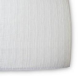 pehr Stripes Away Organic Cotton Fitted Crib Sheet