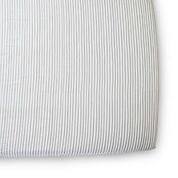 pehr Stripes Away Organic Cotton Fitted Crib Sheet in Pebble
