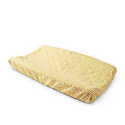 pehr Stripes Away Changing Pad Cover in Marigold