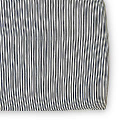 pehr Stripes Away Organic Cotton Fitted Crib Sheet in Ink