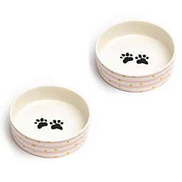 Izzie Medium Pet Bowls (Set of 2)
