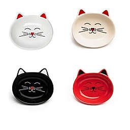 Park Life Designs Oscar Medium Stoneware Cat Bowls (Set of 4)