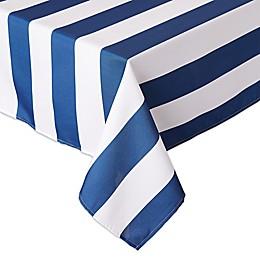 Design Imports Cabana Stripe Outdoor Tablecloth with Umbrella Hole