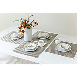 Bistro 14-Inch Square Placemats in Silver (Set of 4)