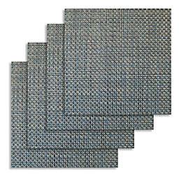 Bistro 14-Inch Square Placemats in Denim (Set of 4)