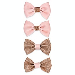 Khristie® 4- Pack Classic Glitter Bow Hair Clips