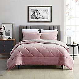 Swift Home Plush Fleece 3-Piece King Comforter Set in Rose