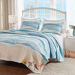 3-Piece King Maui Quilt Set in Turquoise