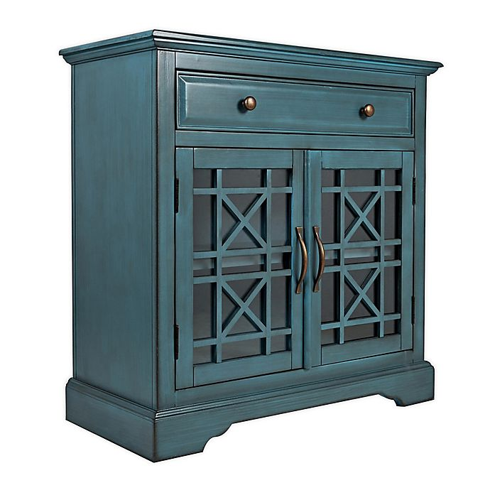 Craftsman Wooden Accent Cabinet With, Accent Cabinet With Drawers