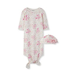 Little Me® Size 0-3M Blossom Rose Knot Gown with Hat in Pink