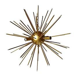 A&B Home Modern Star 6-Light Chandelier in Gold