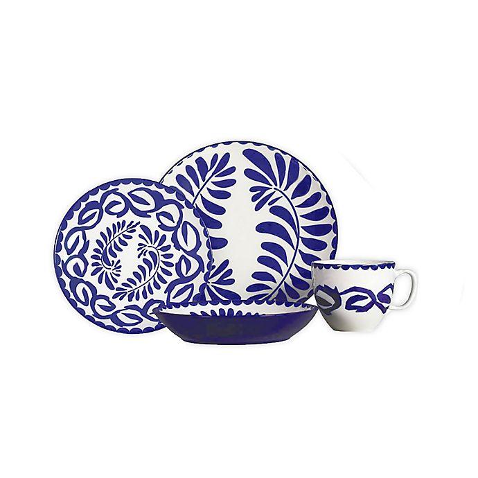 Alternate image 1 for Baum Vera 16-Piece Dinnerware Set in Blue