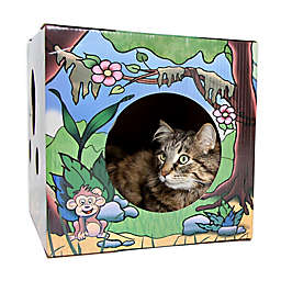 Kitty Cardboard Designer Box Jungle House For Cats
