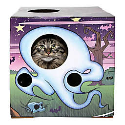 Kitty Cardboard Designer Spooky Box House For Cats