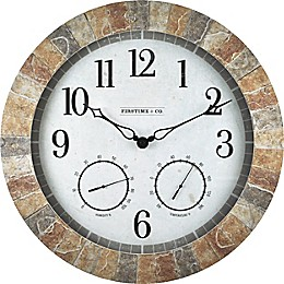 FirsTime & Co.® Sandstone Outdoor Clock