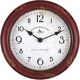 FirsTime & Co.® Red Patina Farmhouse 8.5-Inch Wall Clock